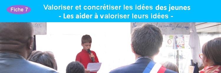 Aider les jeunes à valoriser leurs idées